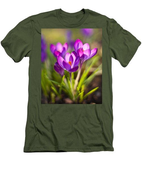 Vivid Petals Men's T-Shirt (Slim Fit) by Mike Reid