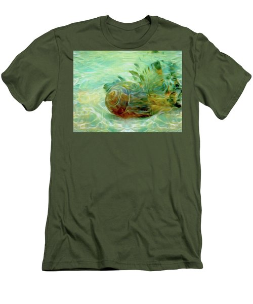 Men's T-Shirt (Athletic Fit) featuring the mixed media Vortex 8 by Lynda Lehmann