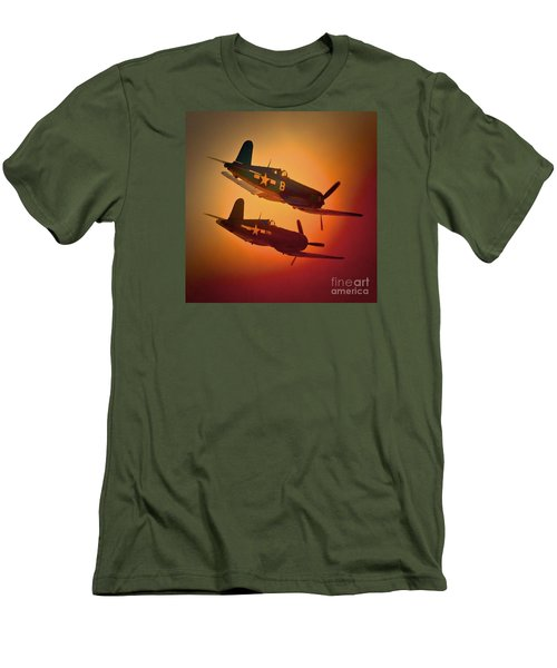 Vought F4u Corsair Sunset Two Ship Men's T-Shirt (Athletic Fit)