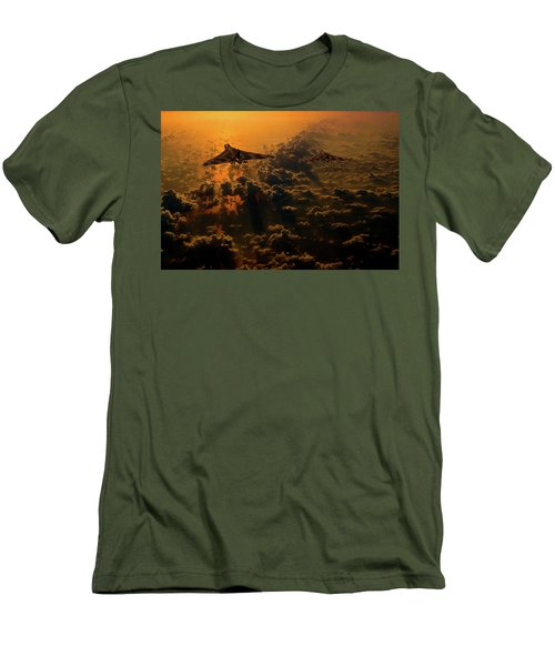 Vulcan Bomber Sunset Men's T-Shirt (Athletic Fit)