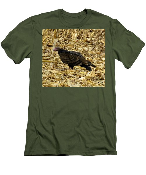 Vulture In The Corn Field  Men's T-Shirt (Slim Fit) by Keith Stokes