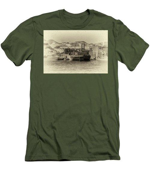 Wadi Al-sebua Antiqued Men's T-Shirt (Slim Fit) by Nigel Fletcher-Jones