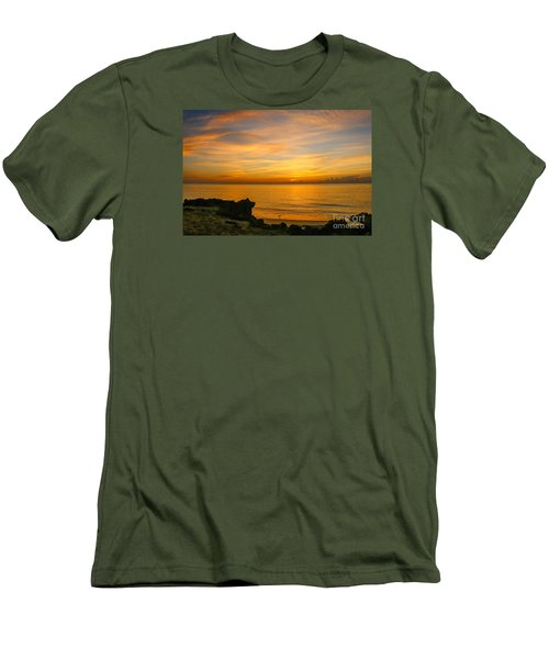 Wading In Golden Waters Men's T-Shirt (Slim Fit) by Tom Claud