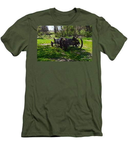 Wagon And Dandelions Men's T-Shirt (Slim Fit) by Renie Rutten
