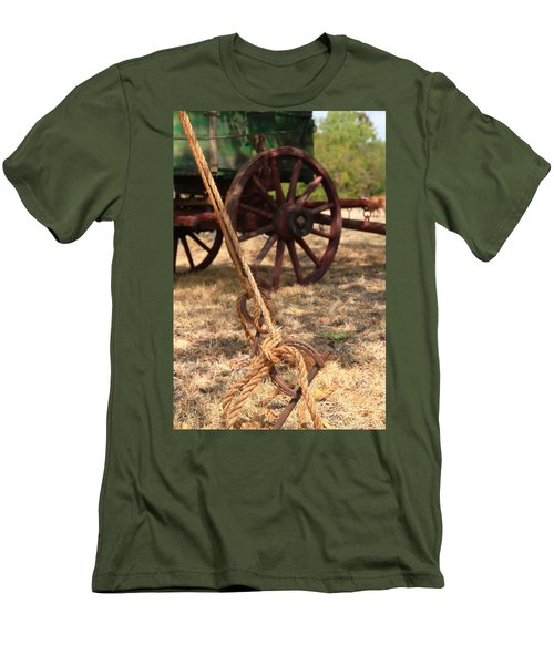 Wagon Stake Men's T-Shirt (Slim Fit) by Toni Hopper