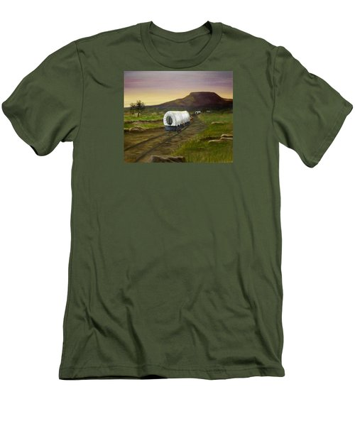 Wagons West Men's T-Shirt (Slim Fit) by Sheri Keith