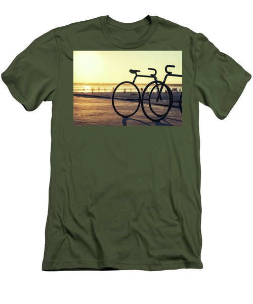 Waiting For A Rider Men's T-Shirt (Slim Fit) by Joseph S Giacalone
