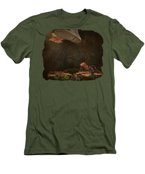 Waiting For The Other Shoe To Drop Men's T-Shirt (Slim Fit) by Terry Fleckney
