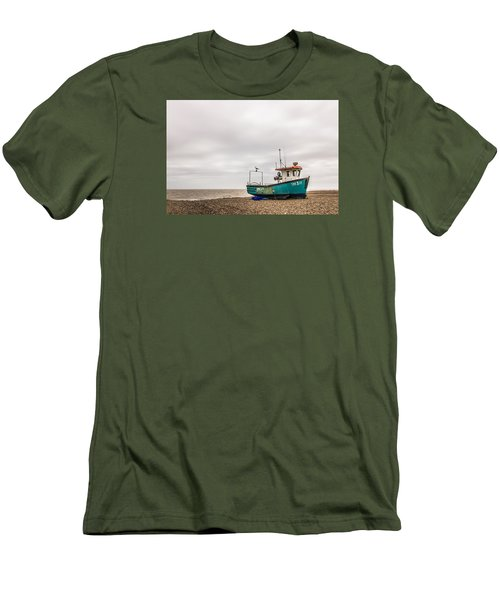 Waiting For The Tide Men's T-Shirt (Slim Fit) by David Warrington