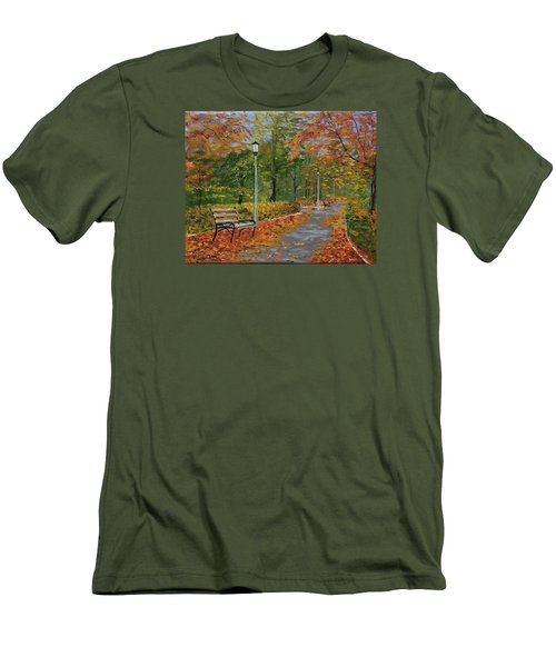 Walk In The Park Men's T-Shirt (Slim Fit) by Mike Caitham