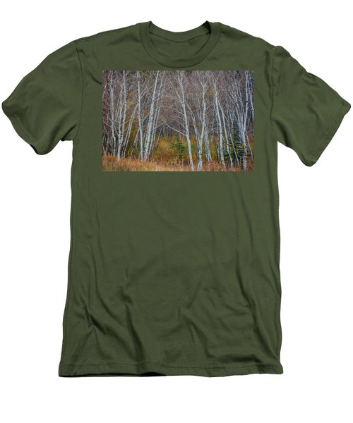 Men's T-Shirt (Slim Fit) featuring the photograph Walk In The Woods by James BO Insogna
