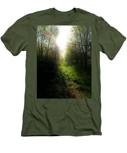 Walk In The Woods Men's T-Shirt (Slim Fit) by Michele Carter