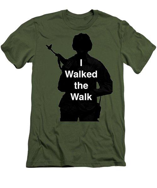 Walk The Walk Men's T-Shirt (Athletic Fit)