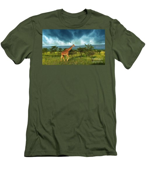 Walking Alone Men's T-Shirt (Athletic Fit)