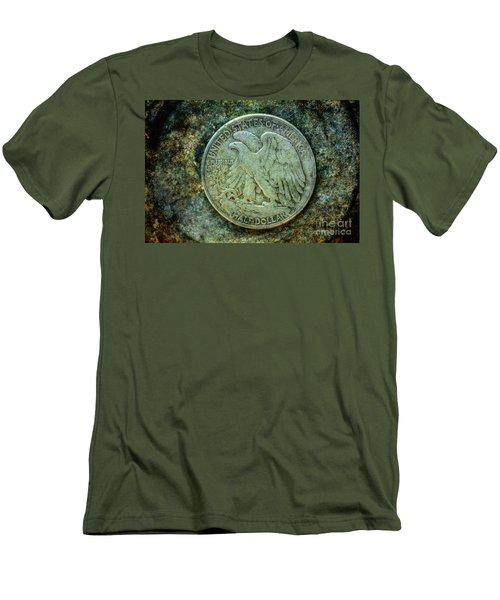 Walking Liberty Half Dollar Reverse Men's T-Shirt (Athletic Fit)