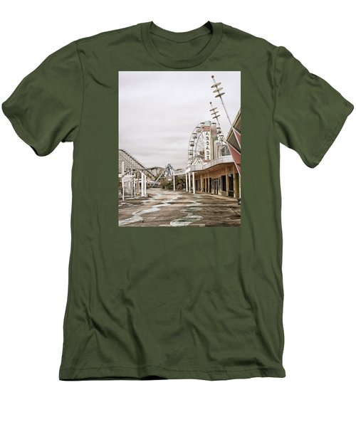 Walkway To The Arcade Men's T-Shirt (Slim Fit) by Andy Crawford