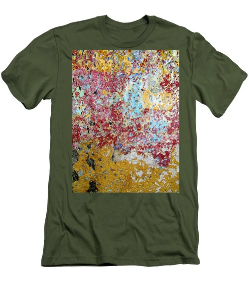 Wall Abstract 123 Men's T-Shirt (Slim Fit) by Maria Huntley