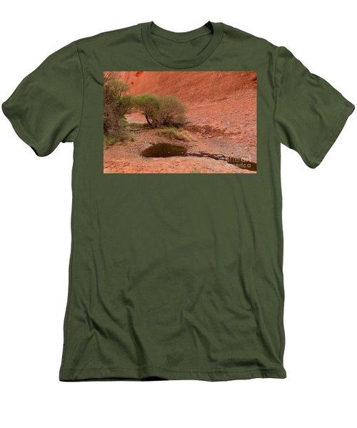 Men's T-Shirt (Athletic Fit) featuring the photograph Walpa Gorge 01 by Werner Padarin