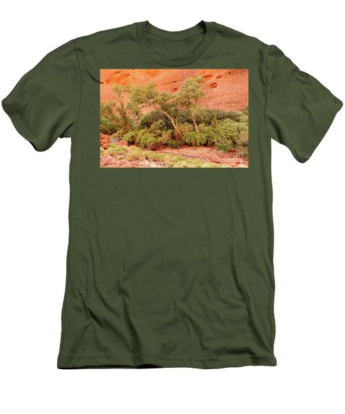 Men's T-Shirt (Athletic Fit) featuring the photograph Walpa Gorge 03 by Werner Padarin