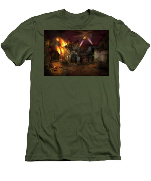 Men's T-Shirt (Slim Fit) featuring the photograph War - Wwi - Not Fit For Man Or Beast 1910 by Mike Savad