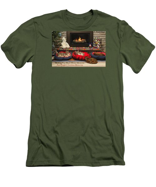 Men's T-Shirt (Slim Fit) featuring the photograph Warm Winter Moments by Gary Hall