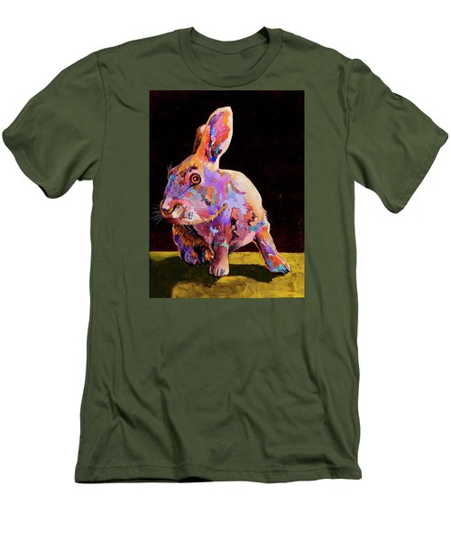 Men's T-Shirt (Slim Fit) featuring the painting Wary by Bob Coonts
