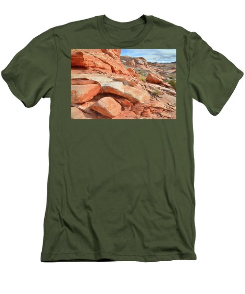 Wash 5 In Valley Of Fire Men's T-Shirt (Slim Fit) by Ray Mathis