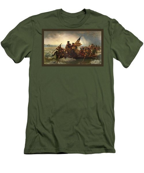 Men's T-Shirt (Slim Fit) featuring the photograph Washington Crossing The Delaware by John Stephens