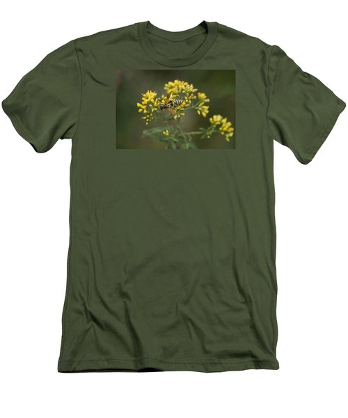 Men's T-Shirt (Slim Fit) featuring the photograph Wasp by Heidi Poulin