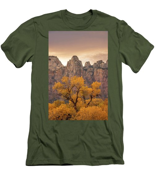 Men's T-Shirt (Athletic Fit) featuring the photograph Watching Over Zion  by Dustin LeFevre