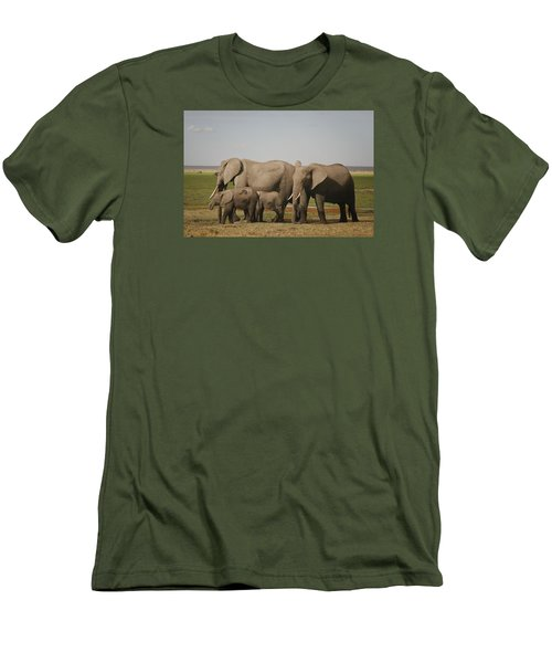 Men's T-Shirt (Slim Fit) featuring the photograph Watching The Children by Gary Hall