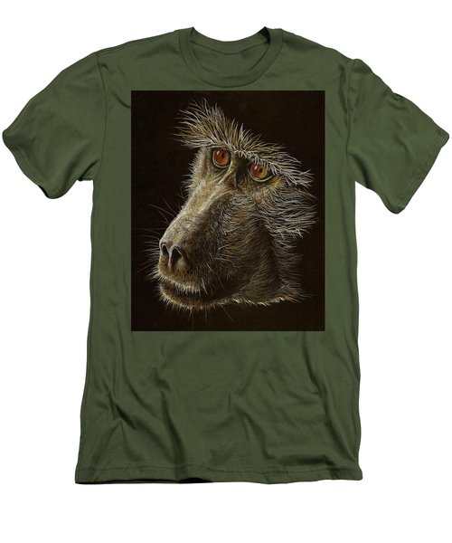Men's T-Shirt (Slim Fit) featuring the drawing Watching You by Heidi Kriel