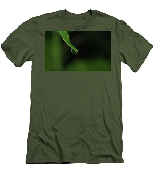 Men's T-Shirt (Slim Fit) featuring the photograph Water Drop by Richard Rizzo