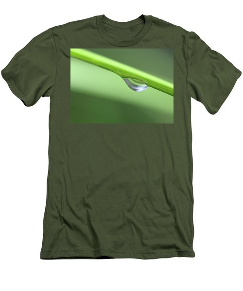 Men's T-Shirt (Slim Fit) featuring the photograph Water Droplet II by Richard Rizzo