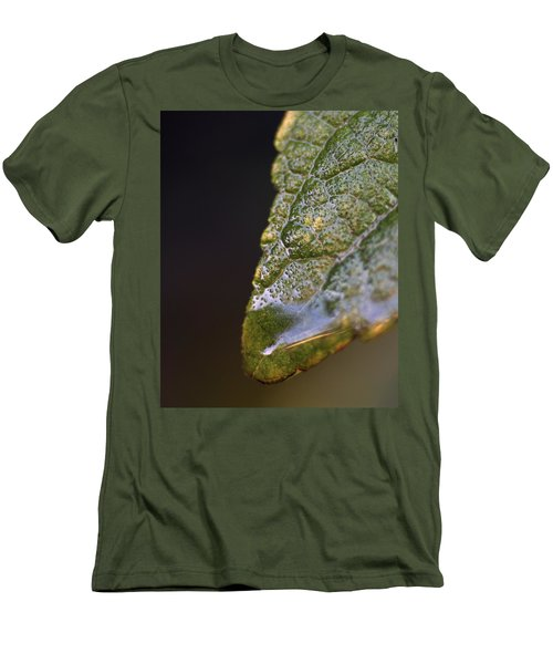 Men's T-Shirt (Slim Fit) featuring the photograph Water Droplet V by Richard Rizzo