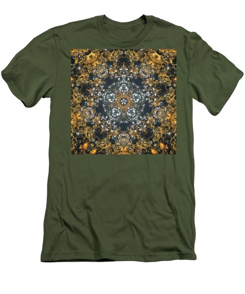Men's T-Shirt (Athletic Fit) featuring the mixed media Water Glimmer 5 by Derek Gedney