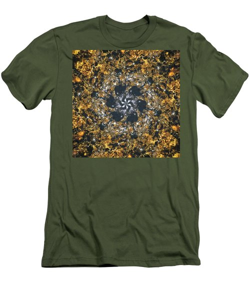 Men's T-Shirt (Athletic Fit) featuring the mixed media Water Glimmer 6 by Derek Gedney