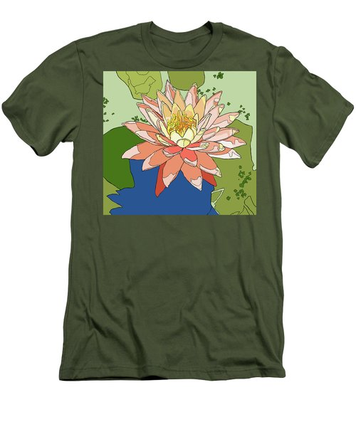 Water Lily And Duck Weed Men's T-Shirt (Slim Fit) by Jamie Downs