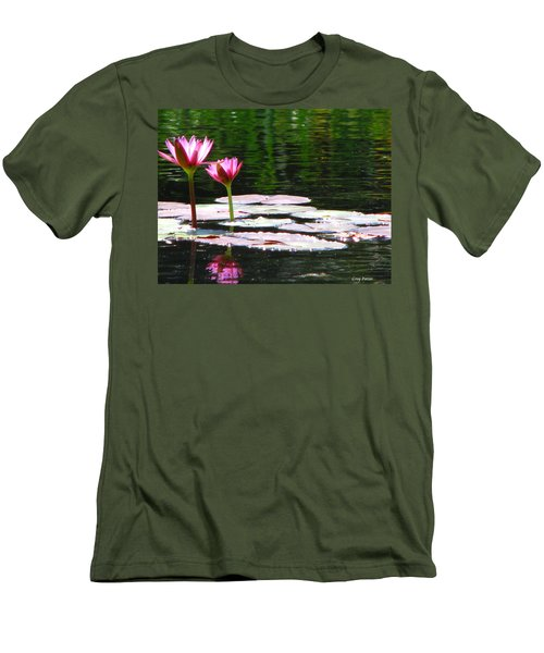 Men's T-Shirt (Slim Fit) featuring the photograph Water Lily by Greg Patzer