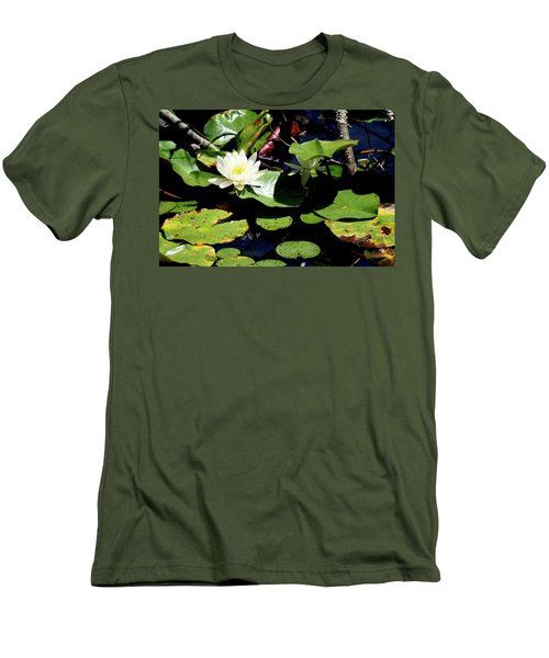Water Lily Men's T-Shirt (Slim Fit) by Meta Gatschenberger