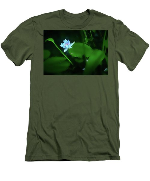 Water Lily N Pond Men's T-Shirt (Athletic Fit)