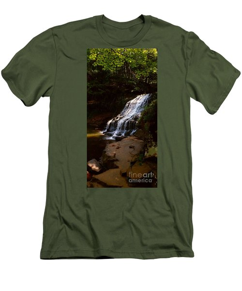 Men's T-Shirt (Slim Fit) featuring the photograph Water Path by Raymond Earley