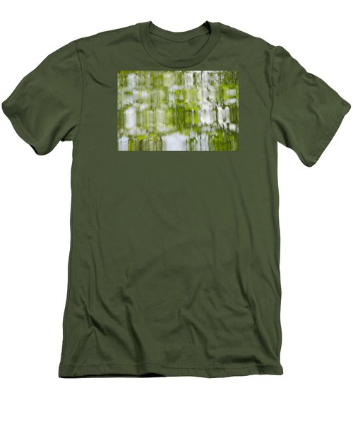 Men's T-Shirt (Slim Fit) featuring the photograph Water Reflections by Wanda Krack