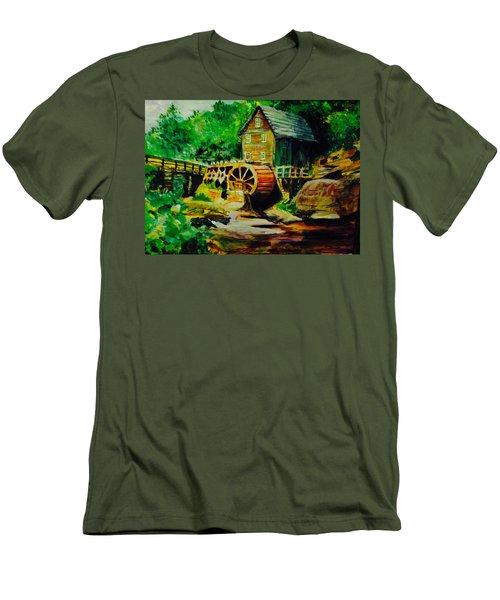 Water Wheel Men's T-Shirt (Athletic Fit)