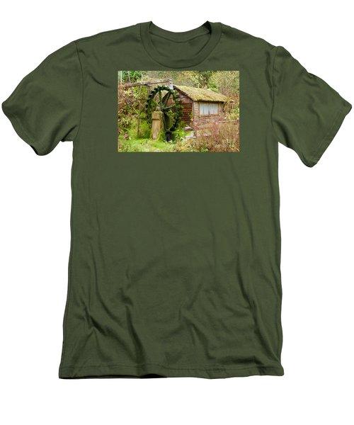 Water Wheel Men's T-Shirt (Slim Fit) by Sean Griffin