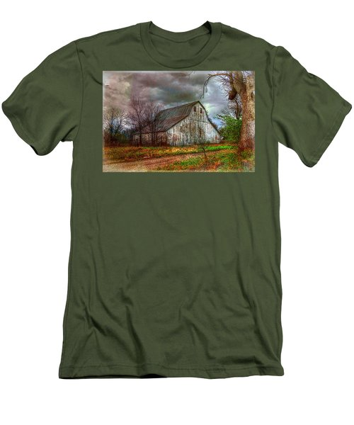 Watercolor Barn 2 Men's T-Shirt (Slim Fit) by Karen McKenzie McAdoo