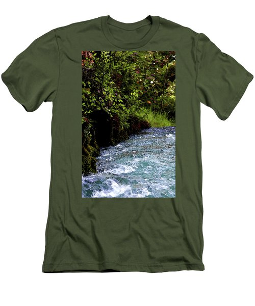Watercolor Big Springs Missouri 2125 W_2 Men's T-Shirt (Athletic Fit)