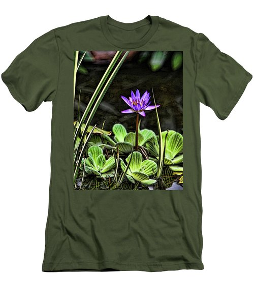 Watercolor Lily Men's T-Shirt (Athletic Fit)