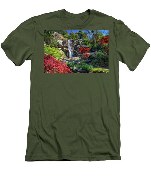 Men's T-Shirt (Slim Fit) featuring the photograph Waterfall At Maymont by Rick Berk
