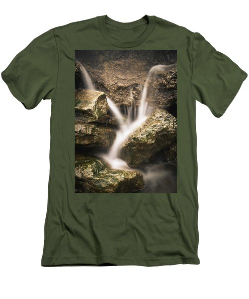 Waterfall Detail  Men's T-Shirt (Slim Fit) by Scott Meyer
